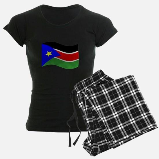 Waving South Sudan Flag Pajamas