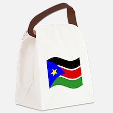 Waving South Sudan Flag Canvas Lunch Bag