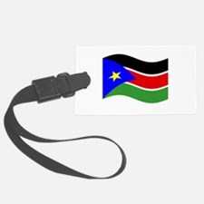 Waving South Sudan Flag Luggage Tag