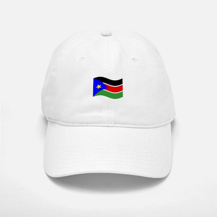 Waving South Sudan Flag Baseball Baseball Baseball Cap