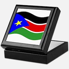 Waving South Sudan Flag Keepsake Box