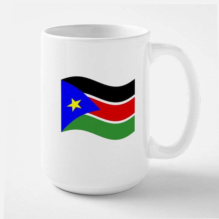 Waving South Sudan Flag Mugs