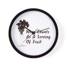 Wine Diet Wall Clock