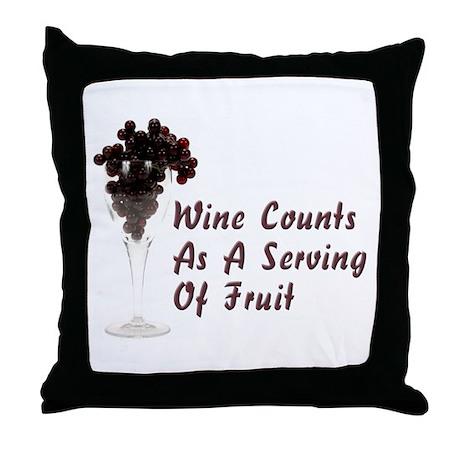 Wine Diet Throw Pillow