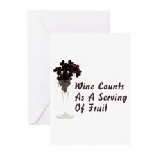 Wine Diet Greeting Cards (Pk of 10)