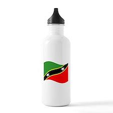Waving St.Kitts Nevia Flag Water Bottle