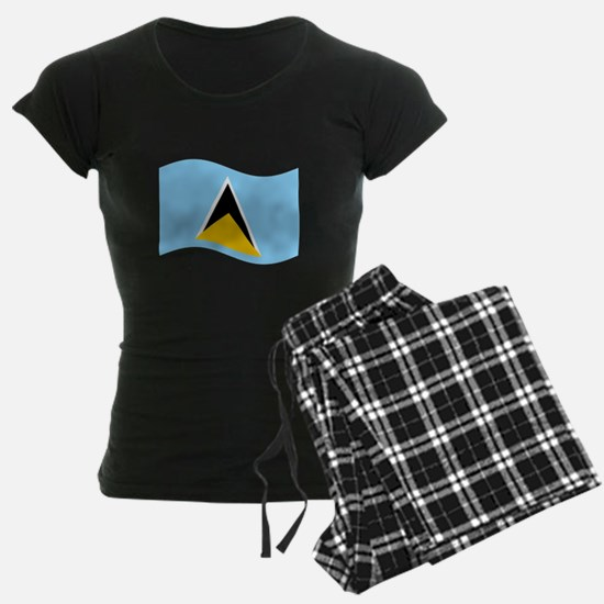 Waving St. Lucia Flag Pajamas