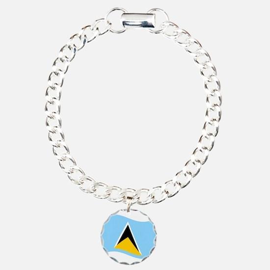 Waving St. Lucia Flag Bracelet