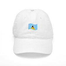 Waving St. Lucia Flag Baseball Baseball Cap