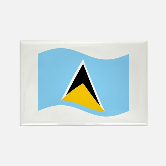 Waving St. Lucia Flag Magnets