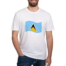 Waving St. Lucia Flag T-Shirt