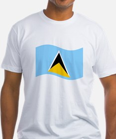 Waving St. Lucia Flag T-Shirt