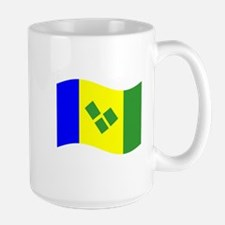 Waving St. Vincent Flag Mugs