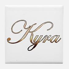 Gold Kyra Tile Coaster