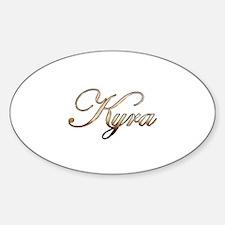 Gold Kyra Decal
