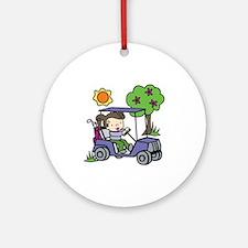 Golf Cart Driver Ornament (Round)