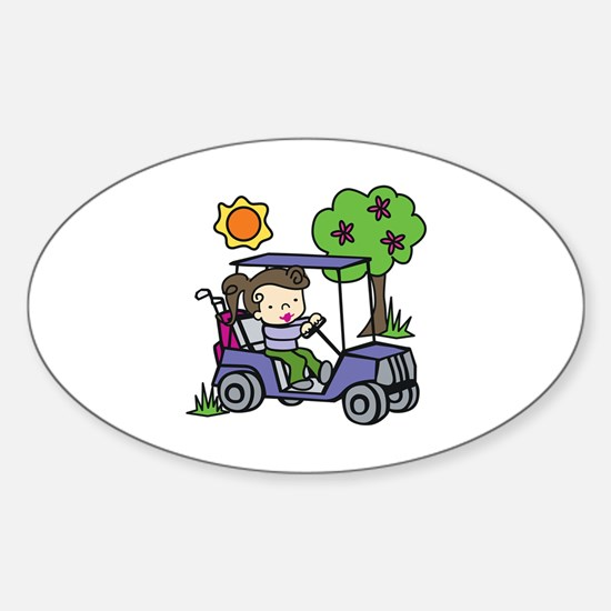 Golf Cart Driver Decal