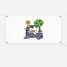 Golf Cart Driver Banner