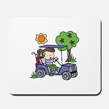 Golf Cart Driver Mousepad