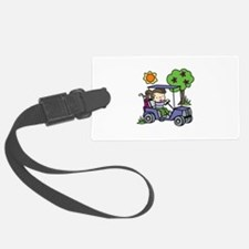 Golf Cart Driver Luggage Tag