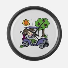 Golf Cart Driver Large Wall Clock