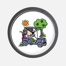 Golf Cart Driver Wall Clock