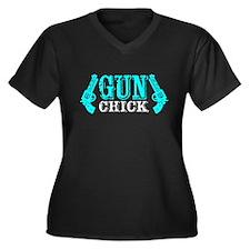 Gun Chick Plus Size T-Shirt