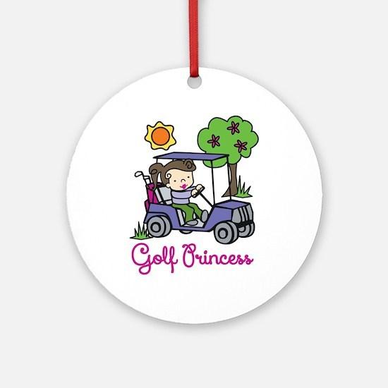 Golf Princess Ornament (Round)