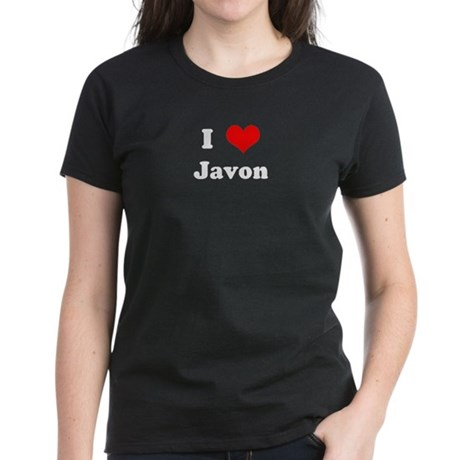 I Love Javon Women's Dark T-Shirt