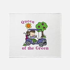 Queen of the Green Throw Blanket