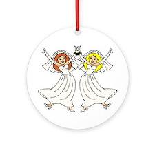 Lesbian Wedding 2 Ornament (Round)