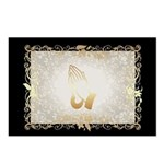 Gold Praying Hands Postcards (package Of 8)