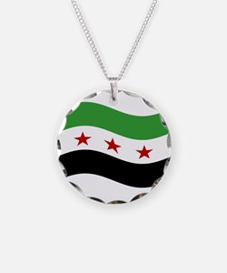 Waving Syria Republic Flag Necklace