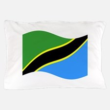 Waving Tanzaznia Flag Pillow Case