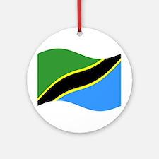 Waving Tanzaznia Flag Ornament (Round)