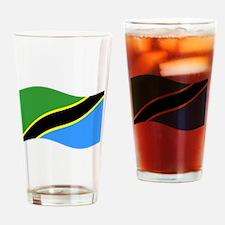 Waving Tanzaznia Flag Drinking Glass