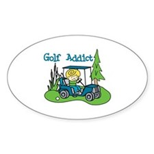 Golf Addict Decal