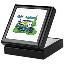 Golf Addict Keepsake Box