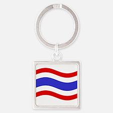 Waving Thailand Flag Keychains