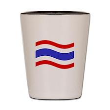 Waving Thailand Flag Shot Glass
