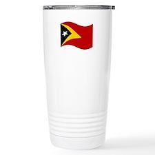 Waving Timor-Leste Flag Travel Mug