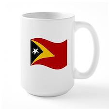 Waving Timor-Leste Flag Mugs