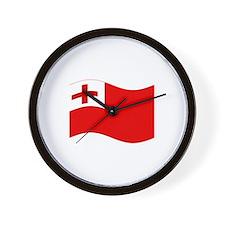 Waving Tonga Flag Wall Clock