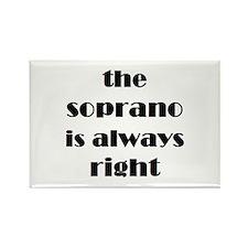 soprano right Rectangle Magnet