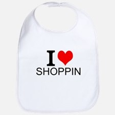 I Love Shopping Bib