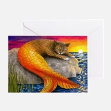 Cat Mermaid 30 Greeting Card
