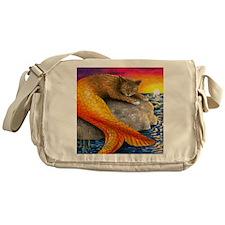 Cat Mermaid 30 Messenger Bag
