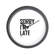 Funny Always late Wall Clock