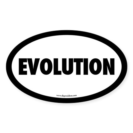 Evolution Oval Sticker