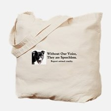 Without Our Voice Tote Bag